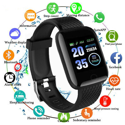 Smart Watch Band Heart Rate Blood Pressure Monitor Tracker Bracelet IP67 116plus