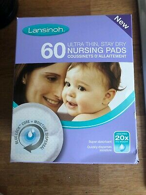 Lansinoh Breast Pads Nursing Disposable Absorbent Breastfeeding 60 Pads