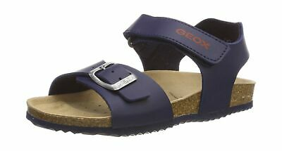 Geox J New Sandal Storm Boy a Open Toe 1 UK Child Navy Red C0735