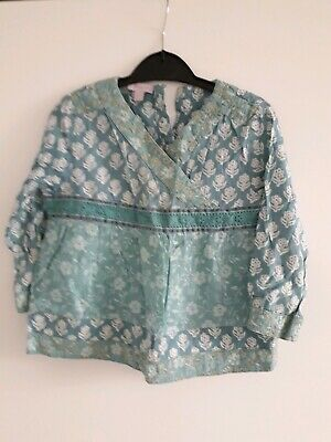 Monsoon Age 2-3 Girls Sea Green Boho Top