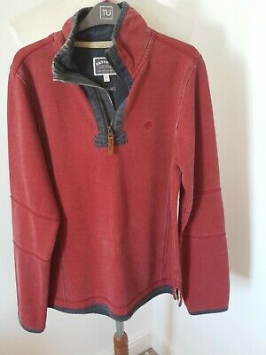 Mens Fat Face Zip Neck Jumper Xs Last Pic Shows True Colour