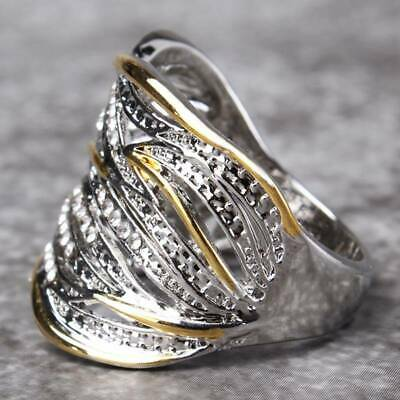 Vintage Women Ring Multi-Layer Wedding Engagement Rings Jewelry Gift T