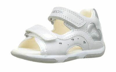 Geox Baby Girls' B Sandal Tapuz C 6 UK Child White White Silver C0007