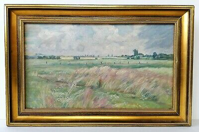 Antique Oil On Canvas - French Impressionist Landscape - Framed Painting