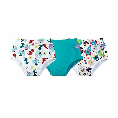 Bambino Mio, potty training pants, mixed boy teal, 2-3 years, 3 pack