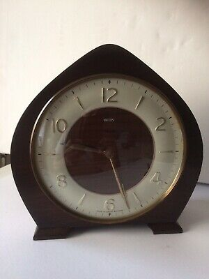 A Vintage 1950's 8 Day Smiths striking Mantle Clock with Floating balance Works.