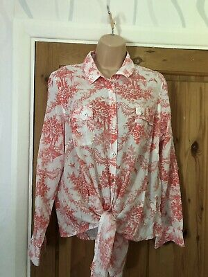 Marks&spencer Per Una Women's Ladies Top Shirt Cotton Size Uk 16