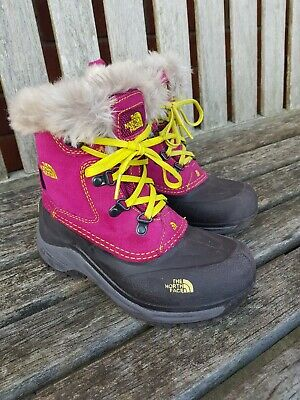 Girls The North Face McMurdo Snow Boots Size 1 immaculate condition