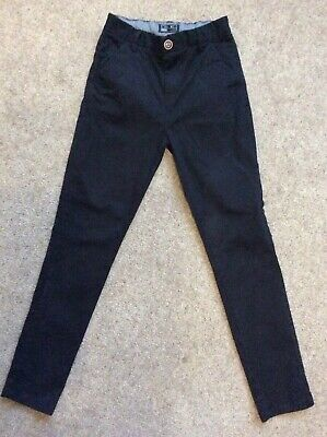 Boys Next Slim Black Trousers Age 12 Years