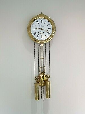 Antique Holland wall clock comtoise brass, pendulum clock