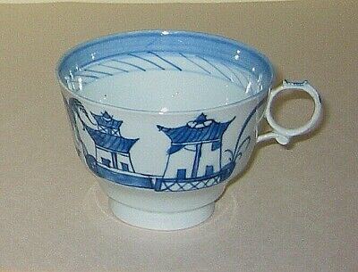 Canton China  CUP  - c1880? Oriental / Asian blue white pattern - 2.75in