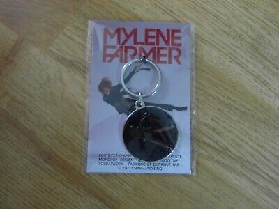Porte clé Keychain Ø45mm ♥ I Love You j/'aime Chanteur Mylene Farmer
