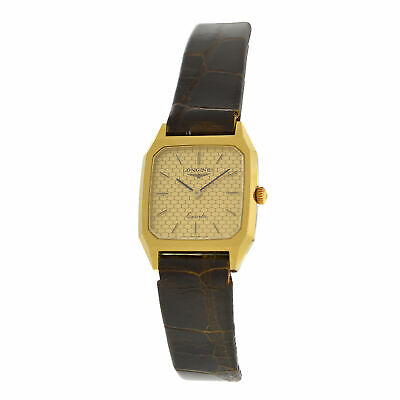 New Ladies Longines XL18 Yellow Gold Plated Stainless Steel Quartz 20mm Watch