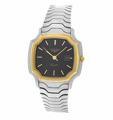 New Unisex Longines Stainless Steel Yellow Gold Plated Quartz 28mm Watch