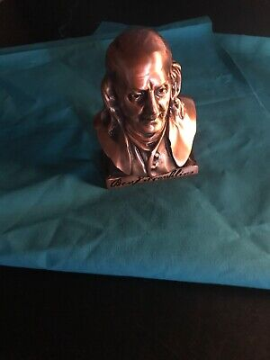 Vintage Copper Ben Franklin Coin Bank No Key