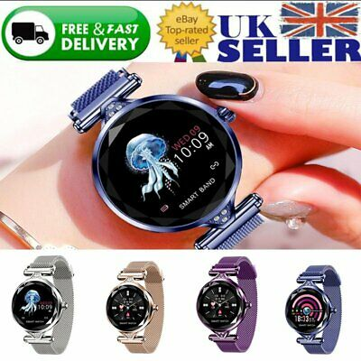Women Bluetooth Smart Watch Wrist Phone Mate For Android Samsung IOS iPhone UK