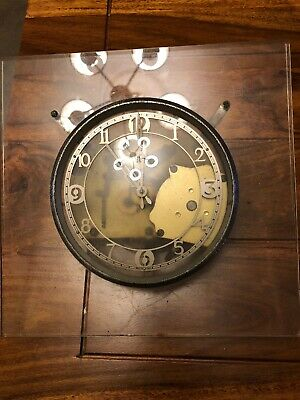 Vintage Smith Sectric  Clock On Perspex