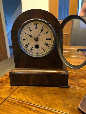 Antique winterhalder hofmeier German mantel Clock Blackforest