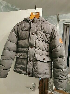 Genuine Boys Padded Abercrombie And Fitch Coat Age 13-14 grey Hooded kids