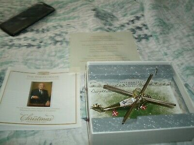 The White House Historical Association Helicopter Christmas Ornament 2019