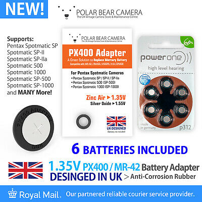 1.35V PX400 MR-42 RM400 H-B MRB400 Adapter + Battery For Spotmatic SP Camera UK