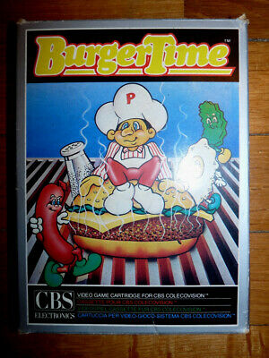 Jeux Burger Time Cbs Coleco Vision Colecovision Retro Gaming Complet In Box