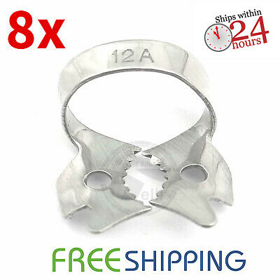Pack of 8 - Dental Rubber Dam Clamp #12A Endodontic Surgical Instruments