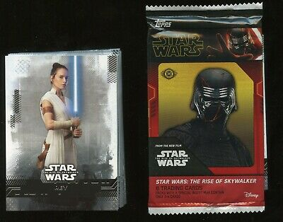 2019 Topps Star Wars Rise of the Skywalker COMPLETE 99-Card BASE Set W/ wrapper