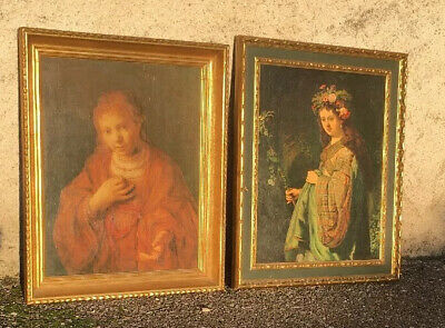 Lot de 2 tableaux Rembrandt, reproduction