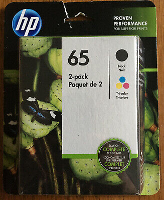 Genuine HP 65 Black / 65 Tri-color Ink Cartridges Combo - Expire 12/2020 NEW