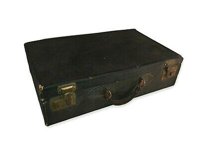 Antique Small Suitcase Brass Hardware Vintage Austria 1920s with Key