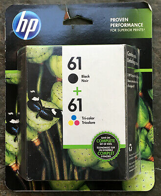 HP 61 Black + 61 Color Combo Ink Cartridge Exp. 12/2020