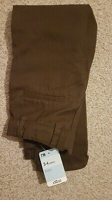 Mothercare Boys Brown Cotton Chinos / Trousers