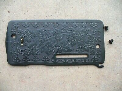 Vintage Singer 128 Sewing Machine Parts Scroll Face Plate
