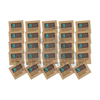 25 Pack - Boveda - RH 58% 8 gram Humidity 2 Way Control Humidor SAVE$MYPHARMJAR