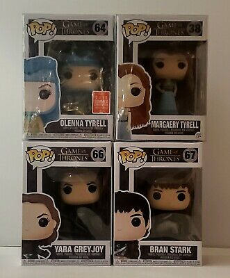 Funko  Pop Game Of Thrones Margaery Olenna Tyrell Bran Stark Yara Greyjoy
