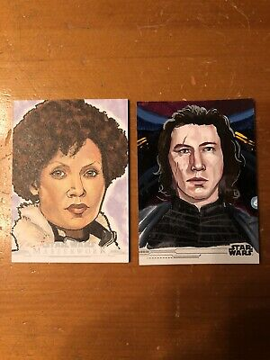 2019 Topps Star Wars Sketch Lot Of 2