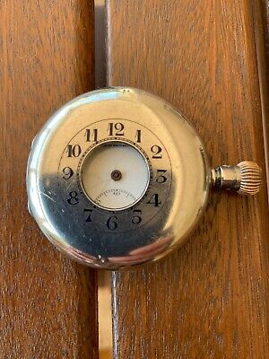 Antique Hardy Brothers Sterling Silver Half Hunter Pocket Watch - Shell Only