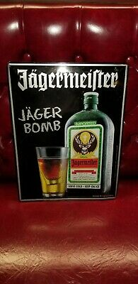 Brand New JAGERMEISTER  JAGER BOMB TIN BAR SIGN 18/' X 13 1//4/""