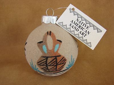Native American Sandpainting Christmas Ornament! Handmade CO312