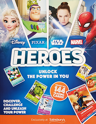 Sainsburys Disney / Pixar / Star Wars / Marvel Heroes Cards (Select your cards)