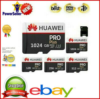 Micro SD  1024/512/256/128  GB Huawei Evo +  Card SD Class 10 + Adaptor USB