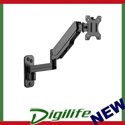 """Brateck Single Screen Wall Mounted Articulating Gas Spring Monitor Arm 7""""-32"""""""