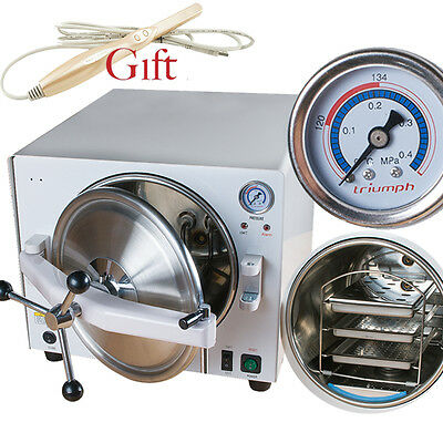 US Dental Medical Autoclave Steam Sterilizer Equipment 121℃/ 0.12Mpa 18L +Gift