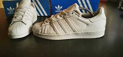 Adidas Superstar Leather Trainers Size 9.5 In White
