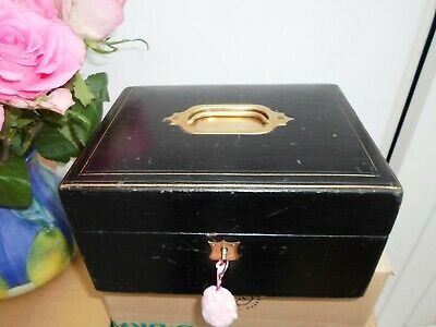 Victorian leather covered travel/vanity case with silver london 1895