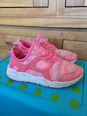 Next Girls Pink Lightweight Trainers Sneakers Size 12 Kids