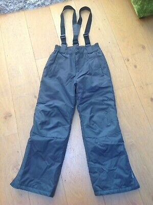 Kids Mountain Warehouse Ski Snow Trousers Grey Age 9-10 Years Great Condition