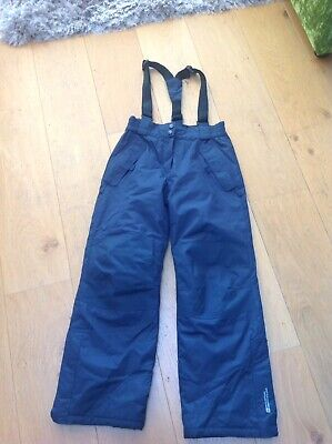 Kids Mountain Warehouse Ski Snow Trousers Navy Age 9-10 Years Great Condition