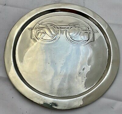very fine liberty & co tudric pewter card receiving tray archibald knox 0163